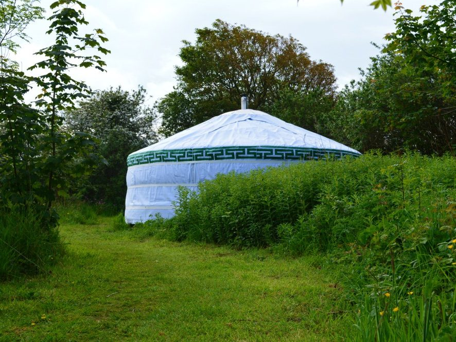 Yurt, glamping, holiday, retreat, eco, private, Wales, nature, natural, trees, green, luxury,
