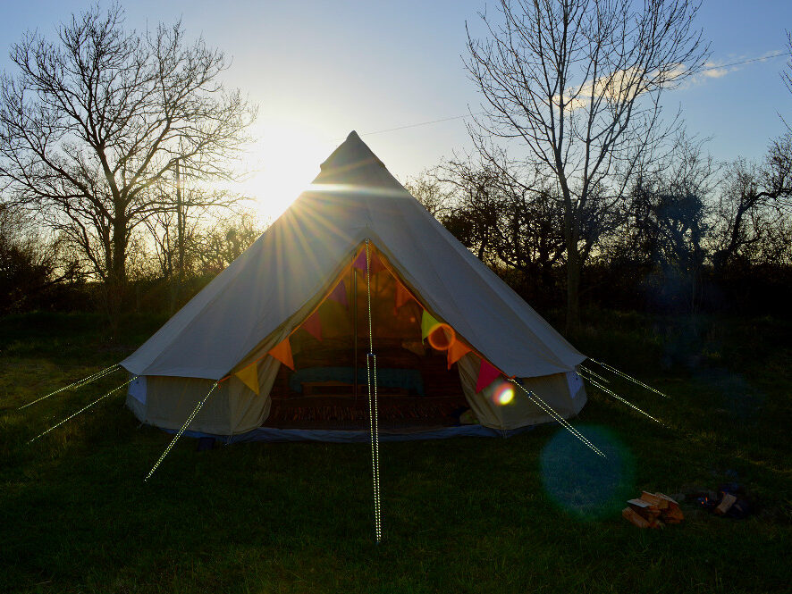 bell tent, glamping, camping, summer holiday, family, dog , couples, seaside, Wales, Ceredigion