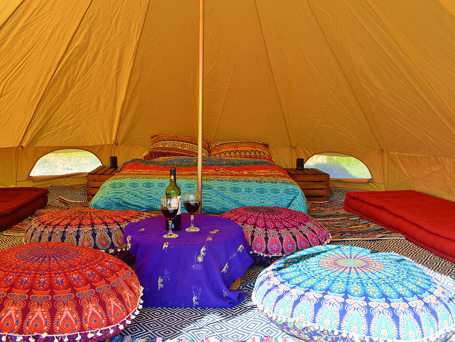 bell tent, glampoing, holiday, family holiday, camping, hippy, bohemian