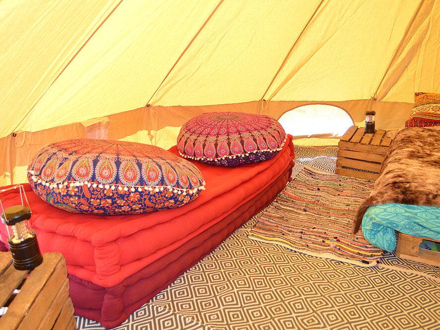 bell tent, glamping, holiday, camping, dog friendly, Wales, Llangrannog