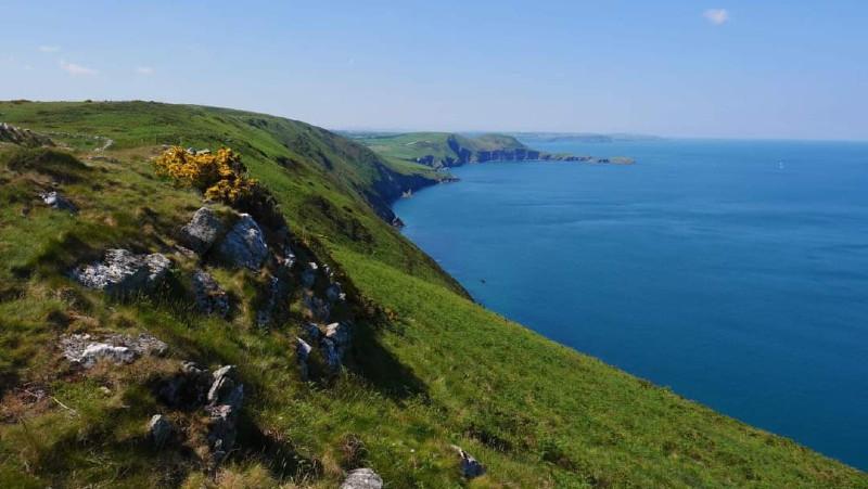 Ceredigion coastal path, Cardigan Bay, Pen Dinas, Lochtyn, Llangrannog, New Quay, Wales